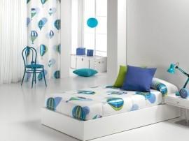 Cuvertura de pat BALLOON AG fix, albastru, dimensiune 90 cm x 200 cm