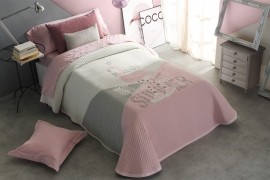 Cuvertura de pat BRIANNA roz, dimensiune 190 cm x 270 cm