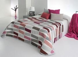 Cuvertura de pat CELSO rosa, dimensiune 190 cm x 270 cm
