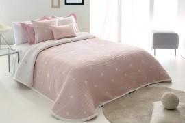 Cuvertura de pat DEMPSY roz, dimensiune 235 cm x 270 cm
