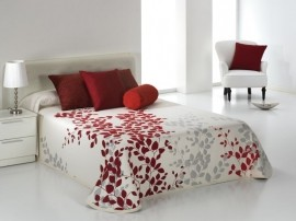 Cuvertura de pat GEISHA rosu, dimensiune 280 cm x 270 cm