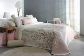 Cuvertura de pat LISBOA roz, dimensiune 280 cm x 270 cm