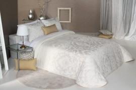 Cuvertura de pat PALERMO alb, dimensiune 250 cm x 270 cm