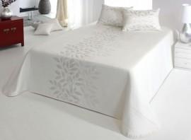 Cuvertura de pat PERLINE natural, dimensiune 280 cm x 270 cm
