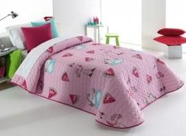Cuvertura de pat PINK 2P roz, dimensiune 190 cm x 270 cm