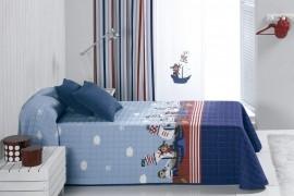 Cuvertura de pat PIRATAS albastru, dimensiune 190 cm x 270 cm