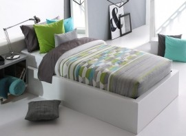 Cuvertura de pat TOLER AG fix, gri verde, dimensiune 90 cm x 200 cm