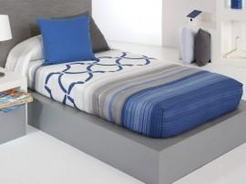 Cuvertura de pat TWIST AG fix, albastru, dimensiune 90 cm x 200 cm